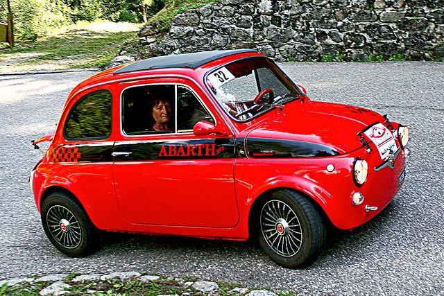 A real Abarth. This is cool. The new knockoff? Not so much.