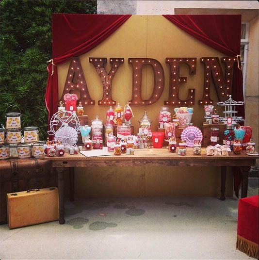 An incredible Vintage Traveling Circus baby shower!