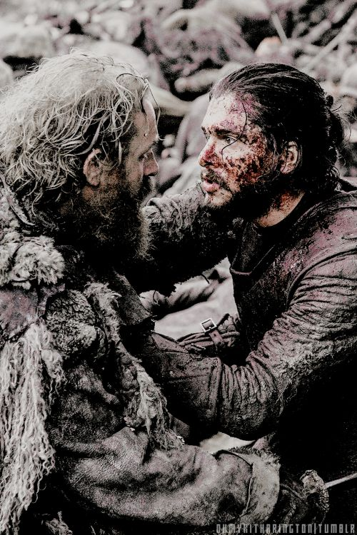 Tormund Giantsbane & Jon Snow (6x9) I thought Tormund may have died in the battle tbh but I'm glad he survived. There's cracking chemistry with Brienne it must be said!