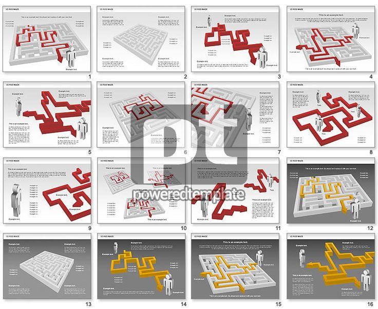 3D Maze for PowerPoint Presentations, Download Now 00738 | PoweredTemplate.com