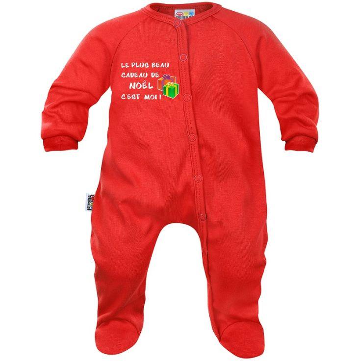 Pyjama bébé Noël : le plus beau CADEAU DE NOËL c'est moi !