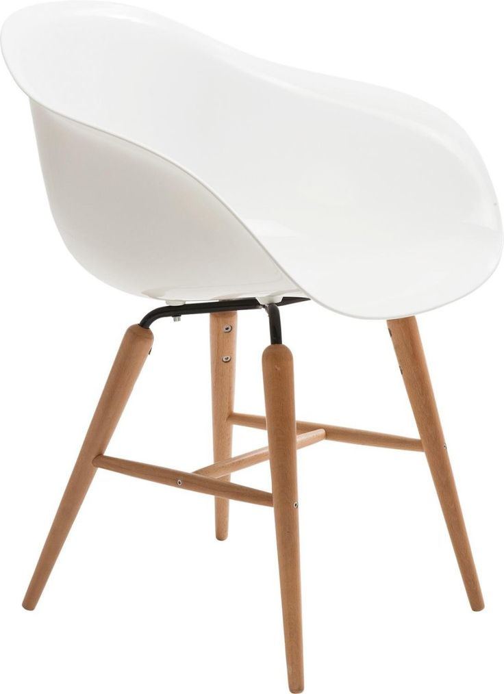 Stuhl mit Armlehne Forum Wood White