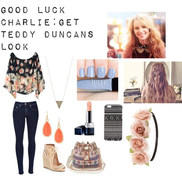 Good Luck Charlie: Get Teddy Duncans Look by emily-rose-hilston on Polyvore featuring rag & bone, Jeffrey Campbell, House of Harlow 1960, Nordstrom Rack, Charlotte Russe, With Love From CA and Christian Dior