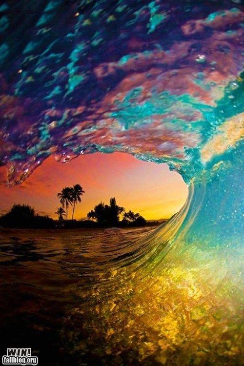 Sunset wave: a win from the FAILblog.