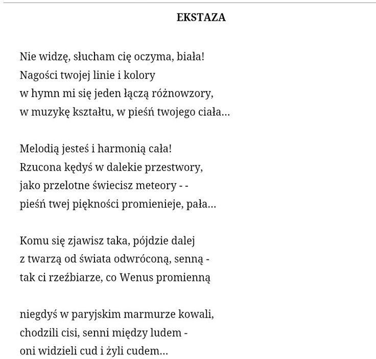 best wierszyki poezja cytaty itp images  tetmajer