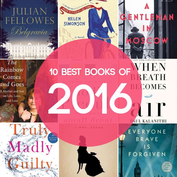 10 best books of 2016. Great book list: novels, historical novels, non fiction, literary fiction, and more.