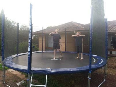 We love seeing happy, active little Jump Stars!!! <3 These boys have LOADS of room to move on their 14ft trampoline!  www.jumpstar.com.au