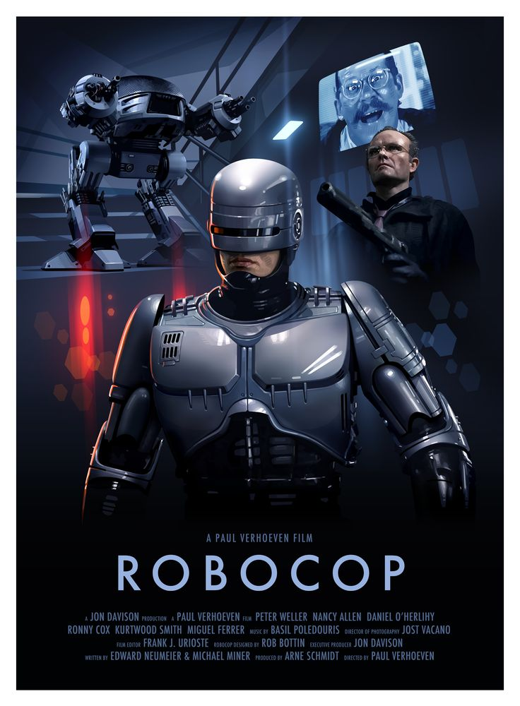 Robocop poster illustration by Brian Taylor