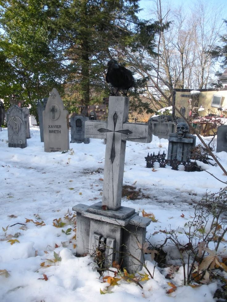 Stone Cemetery Columns : Best images about halloween graveyard scene on