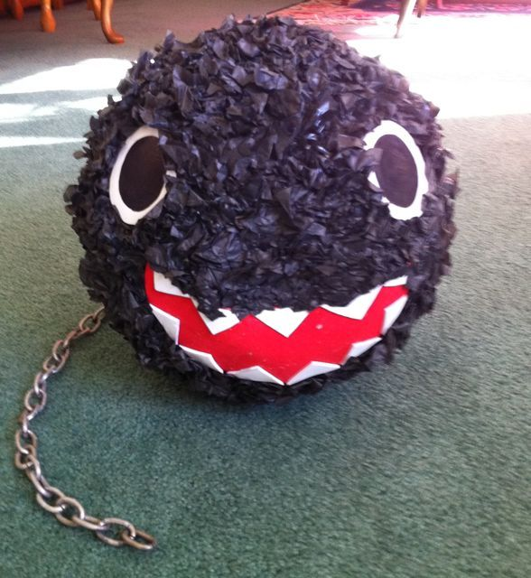 How to Make a Chain Chomp Pinata for Mario Party @Jamee Dorris-Harland