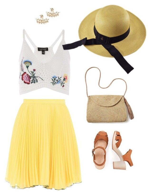 """Sunlight"" by ecuaandinohats ❤ liked on Polyvore featuring Topshop, Boutique Moschino, Ecua-Andino and Mar y Sol"
