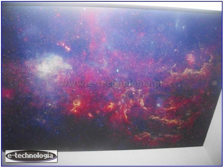 Sufit z gwiazdami - sufit z galaktyką - sufit z niebem - sufit napinany na korytarz - sufit ze zdjęciem - sufit z niebem - sufit świecący - zdjęcia korytarza