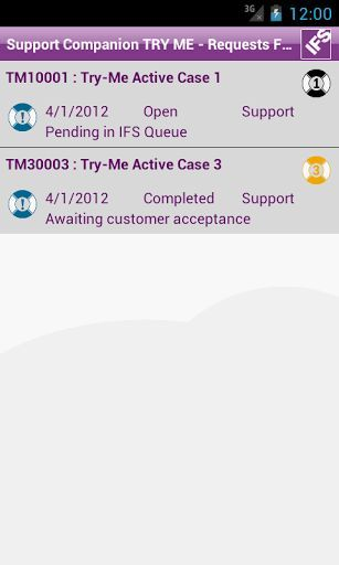 IFS Support Companion makes it easy to track your open support cases in internet support center. You can view the cases either by category or by importance. You can also write to the case journal and in such case change the case focus.<p>IFS Support Companion can be used in Try Me mode with demo data without requiring a log on or network connection.<p>Use of IFS Support Companion connected to IFS's Internet Support Center is free for IFS customers with a valid maintenance and support…