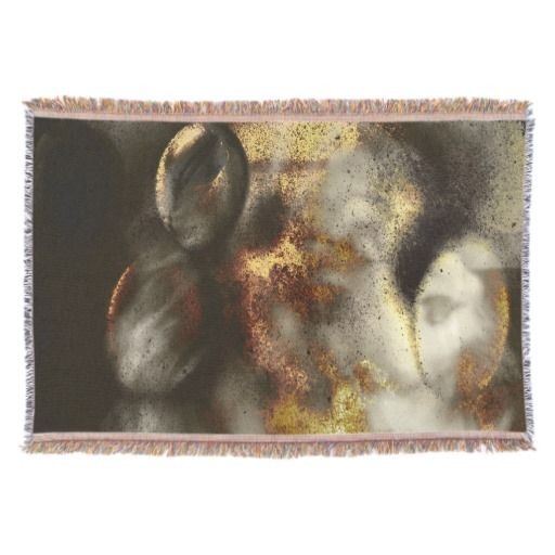 Cozy up with this beautiful, Gold and Silver Star Dust Effect, woven throw blanket! #fomadesign