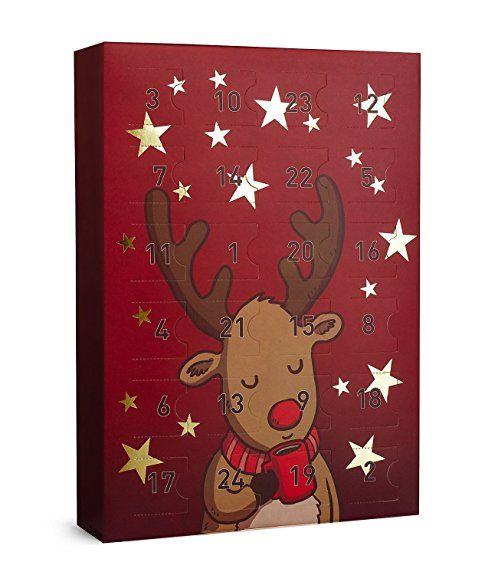 """SIX """"Weihnachten"""" Schmuck Adventskalender Elch Rentier 24 Geschenke Überraschungen Adventszeit XMAS Ohrringe Ketten Ringe Armbänder (388-300)"""