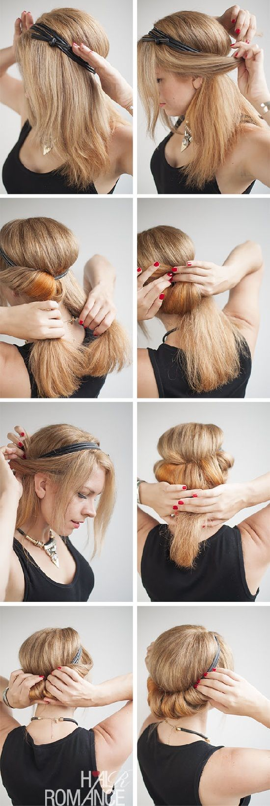 How to do a rolled updo