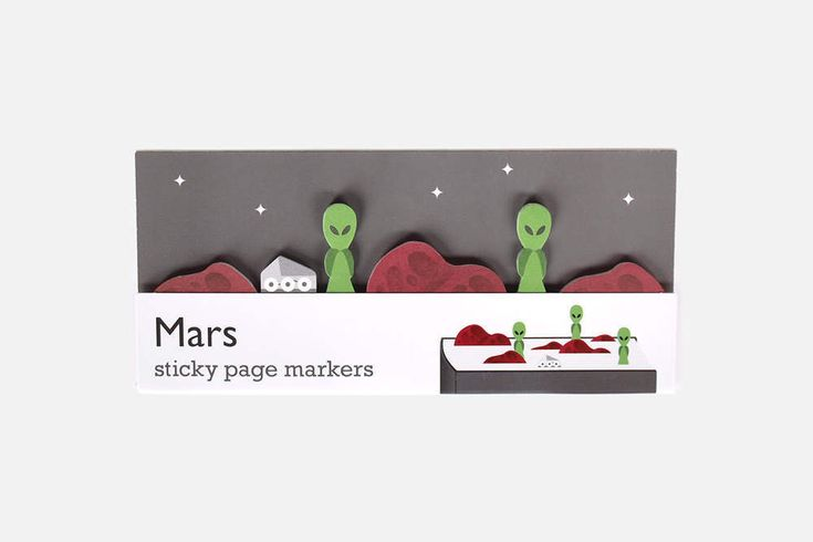 Mars Sticky Page Markers - paper alien stickies for stationery addicts. Bookmark that memo with these paper index bookmarking aliens. by dshott on Etsy https://www.etsy.com/uk/listing/255549408/mars-sticky-page-markers-paper-alien