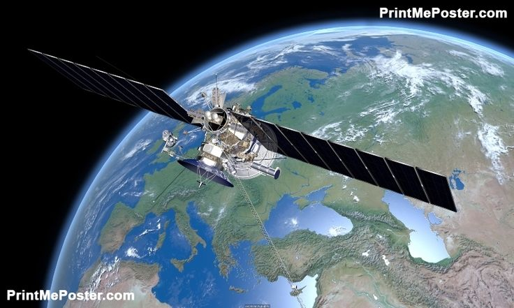 Poster of Satellite Europe, Space Posters, #poster, #printmeposter, #mousepad, #tshirt