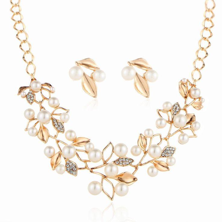 2 Pcs Hot Sale Fashion High Class Jewelry Set Bridal Pearl - Tomtop.com