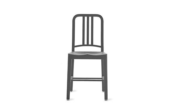 111 Navy Side Chair, Charcoal