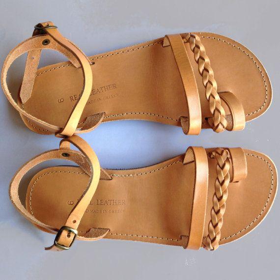 Nuevas sandalias de cuero hecho a mano sandalias de por LeatherLuxe