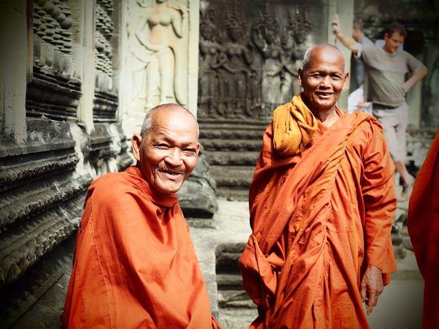 Monks in Angkor Wat