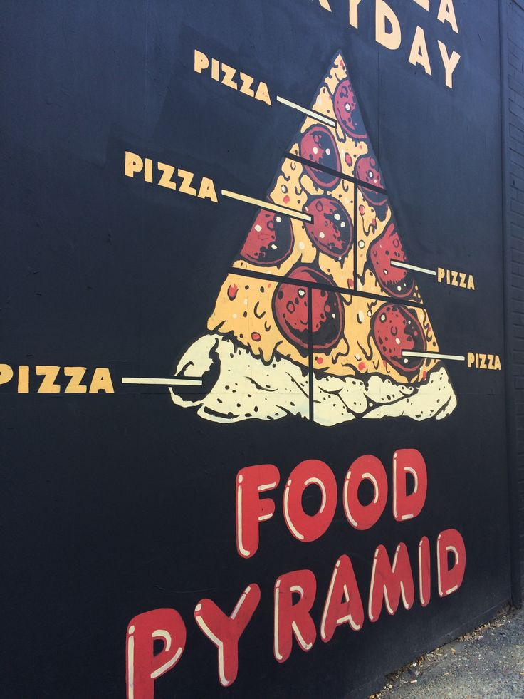 Food Pyramid spotted in downtown Portland  © Sarah Murphy