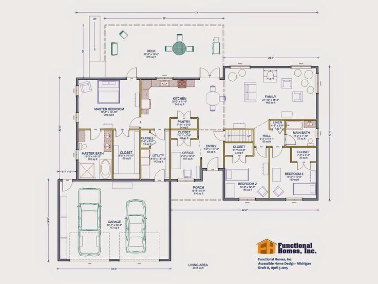 Best 25 handicap accessible home ideas on pinterest ada for Floor plans for handicap accessible homes