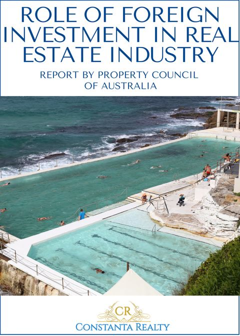 Bondi Beach, Australia on photo. Article: Foreign investment in real estate industry in the latest report.