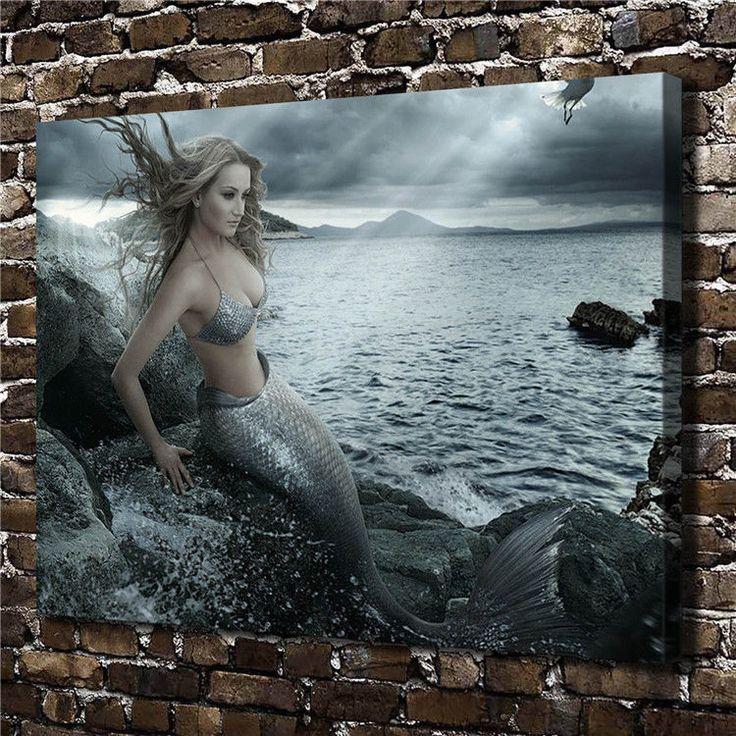 Canvas Hd Picture Print Art Painting Unframed, Yinhai Mermaid Princess 16''X20''