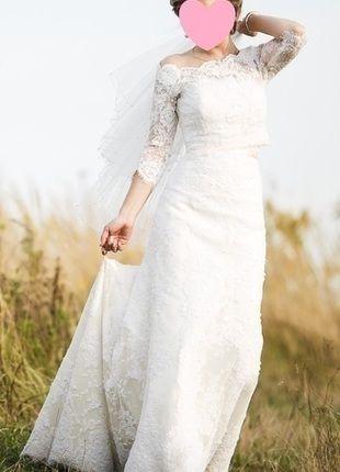 Kup mój przedmiot na #vintedpl http://www.vinted.pl/damska-odziez/dlugie-sukienki/13089928-suknia-slubna-z-koronki-r3436-xss-koronkowa-suknia-slubna-suknia-z-trenem-bolerko-madonna
