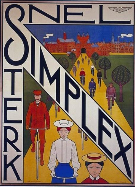 Bicycle vintage advert | Cycles retro poster | #Simplex