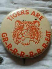 Clemson Tigers They are Great Button Esso Tiger 50's or 60's ULTRA RARE