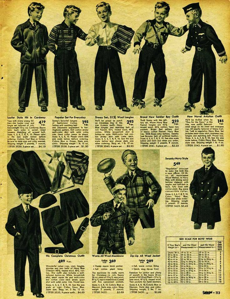 vintage boys clothing advertisement 1942