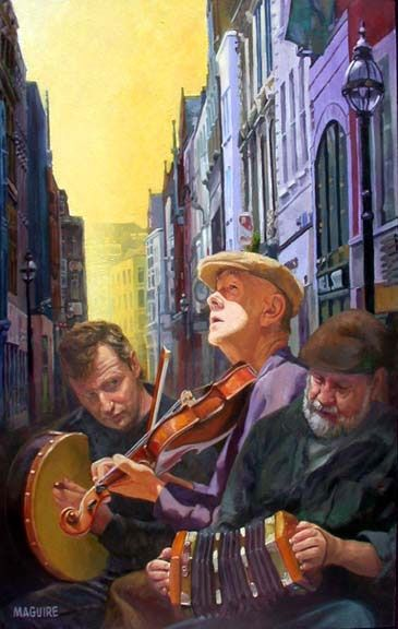 Grafton Street by Barrie Maguire on ArtClick.ie
