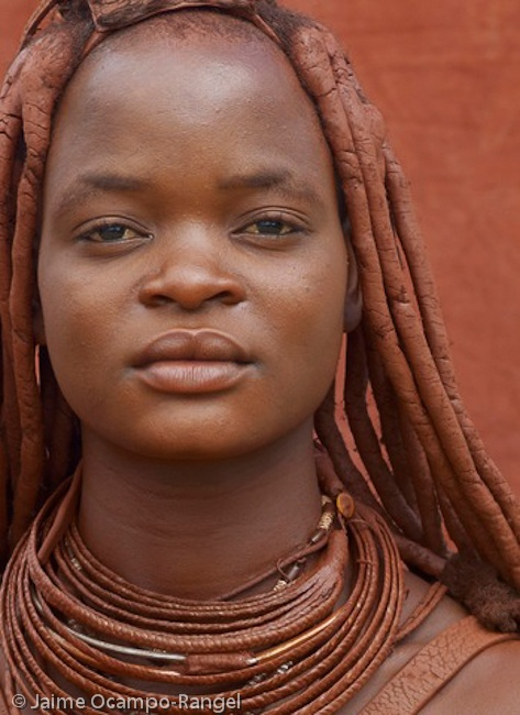 Himba woman in northern namib desert