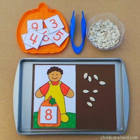 Pumpkin Seed Counting - Pinned by @PediaStaff – Please Visit ht.ly/63sNt for all our pediatric therapy pins