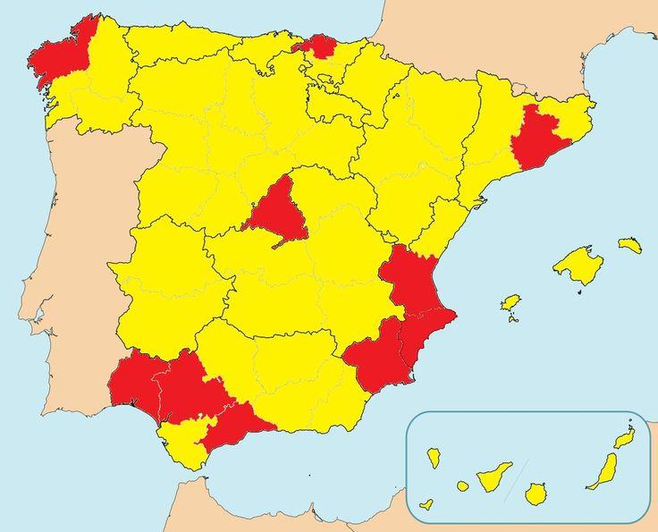 El mapa que demuestra que en España nos hemos repartido regular. | 24 mapas locos que muestran España como nunca la habías visto
