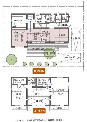 【図1】延べ床面積35坪の家 間取り例