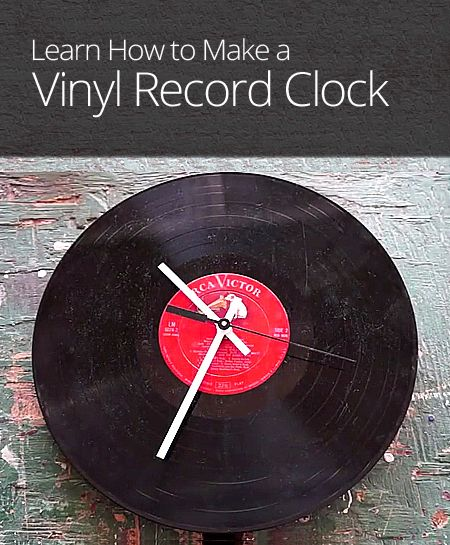 Rather than tossing an old vinyl record, learn how to make it into a decorative wall clock!