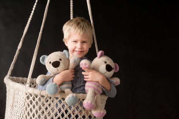 Tummy Teddy was first created for my own son. He is special because of the paws, sweet belly button and wistful expression on his face. It doesn`t matter whether you make this teddy from wool or cotton yarn, both ways he looks marvellous.