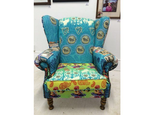 Wingback Bollywood Blonde Chair by Inyezane Collection.  Lexy Bollywood Blonde Couch. Made in Zululand.