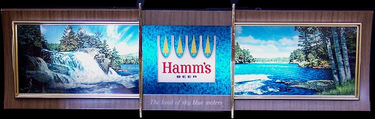 good friends meet here hamms beer