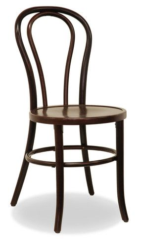 Bon Uno S Bentwood Dining Chair in Dark Walnut with timber seat. $195 and Free Shipping Australia Wide