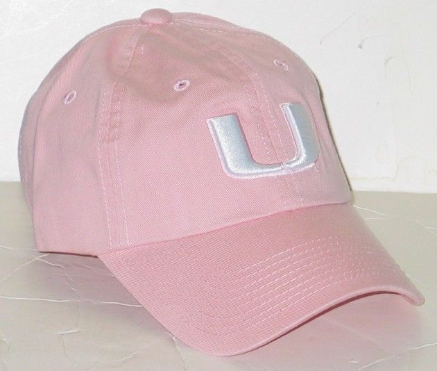 MIAMI HURRICANES CANES UM PINK RELAXER SLOUCH CROWN ADJUSTABLE HAT/CAP NEW