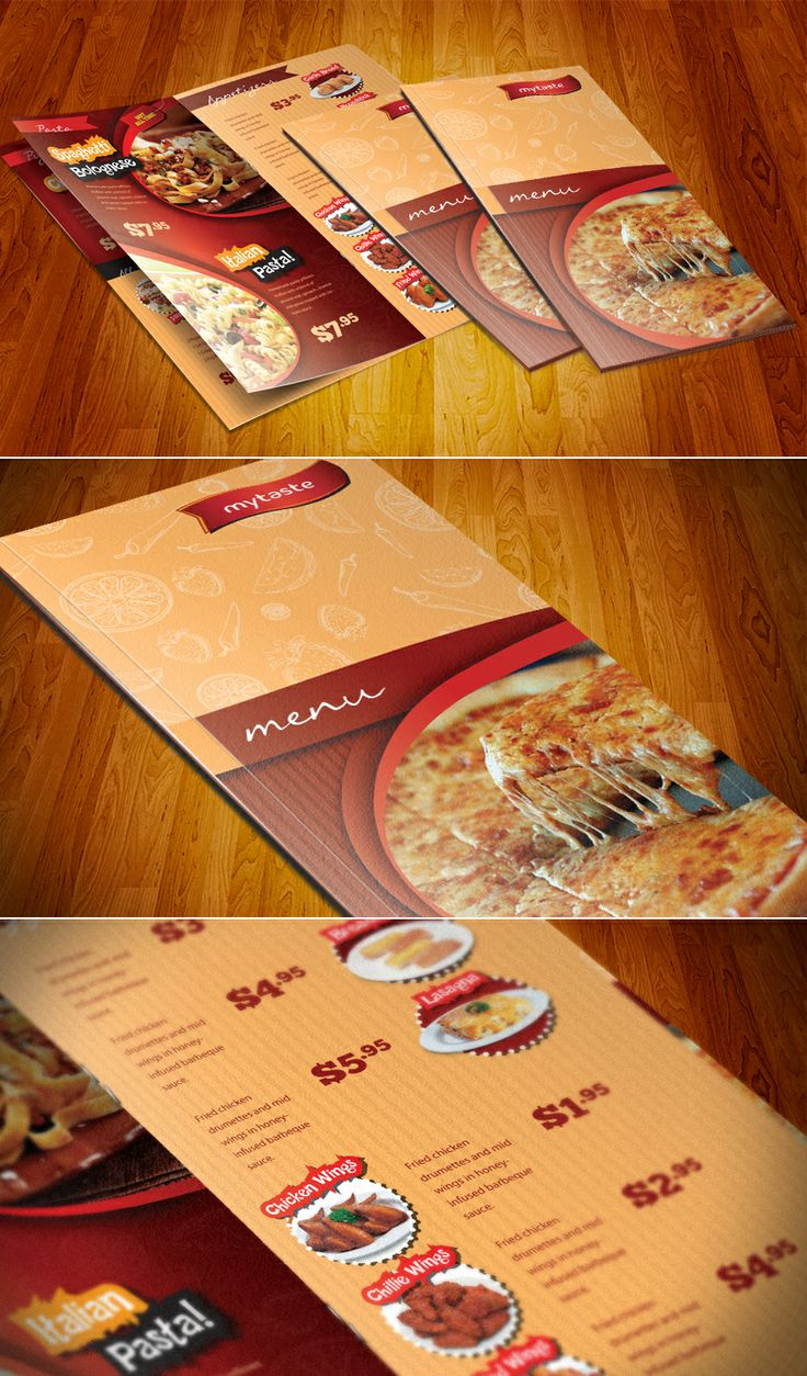 Universal Menu Restaurant template #menu