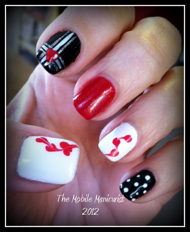 valentines nail art 1000 images about s day nail on 13226