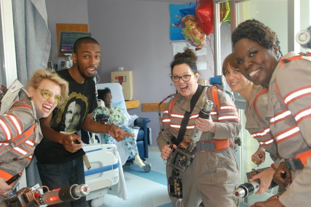 New Ghostbusters Cast Visits Children's Hospital.