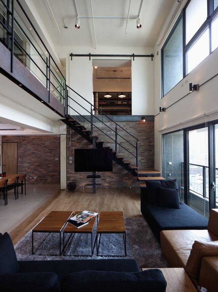 Ejemplo de Iluminación con rieles. Lai Residence by PMK+ Designers.