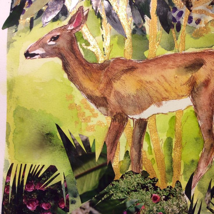 Check out my newest listing. A deer in an enchanted forest. A festive gift for someone?